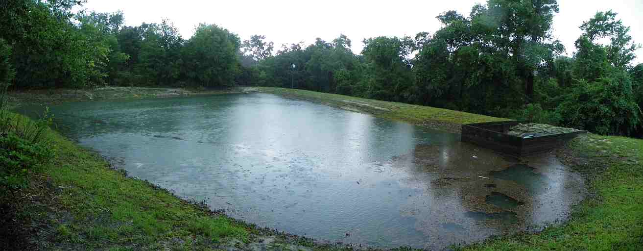 retention pond from rainfall